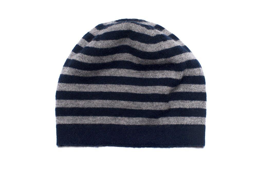 classic fit 7a09e 2cc96 Cappello in cashmere a righe per bambini